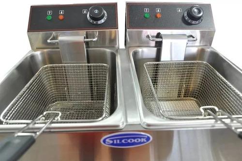 freidora silcook electrica industrial 16 lts doble c/canilla