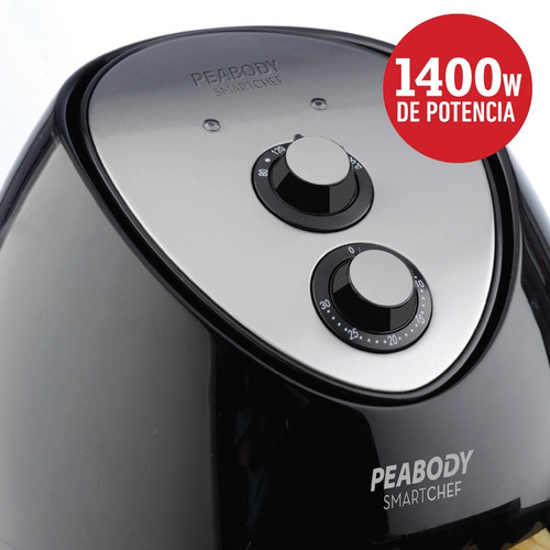 freidora sin aceite eléctrica 3.2 litros peabody pe-af605