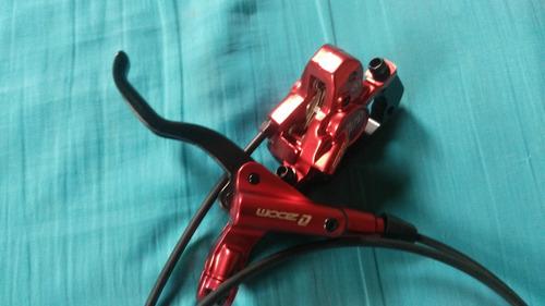 freio hidráulico vermelho 2pc 135mm traseira direita 72mm