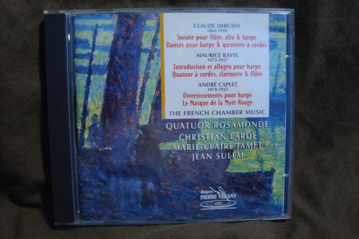 French chamber music debussy ravel caplet cd importado for French chamber