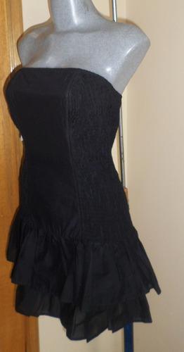 french connection  sexy mini vestido negro talla 26