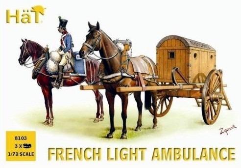 french light ambulance x3  escala 1/72 hat 8103