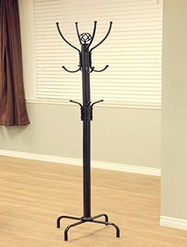 frenchi muebles negro metal perchero, 12 ganchos
