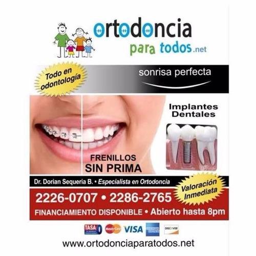 frenillos sin prima  e implantes dentales 350.000 todo tipo
