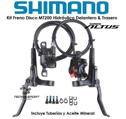 freno disco shimano hidráulico mt200 altus kit completo mtb