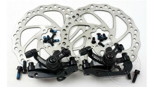 frenos bicicleta mtb tektro novela disco mecanico kit - racer bikes