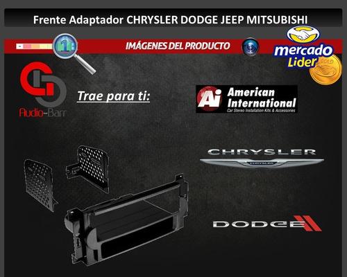 frente adaptador dodge caliber charger durango 1 din cdk648