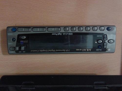 frente autoestereo akai dsp-6600, control remoto y portaeste
