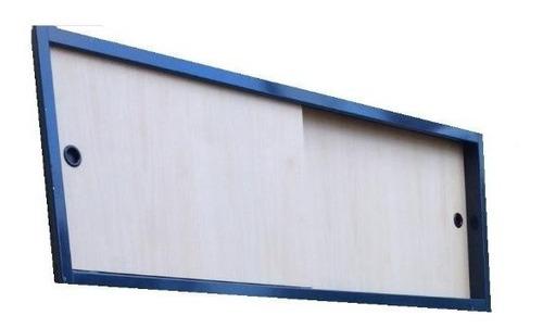 frente baulera de placard corrediza guatambu 120x50