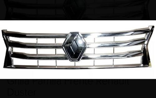 frente cromado+logo renault duster