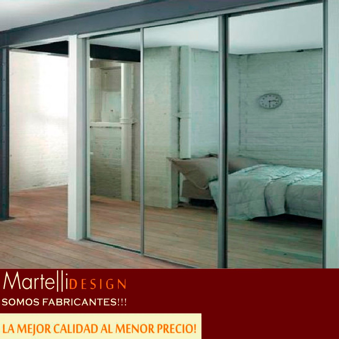 Frente De Placard Puertas Espejo 2.15x2,40 2ptas Fabrica!! - $ 9.990 ...