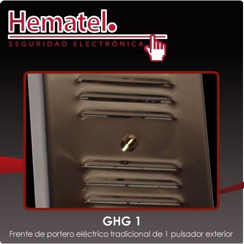 frente de portero eléctrico 1 pulsador ghg acero exterior