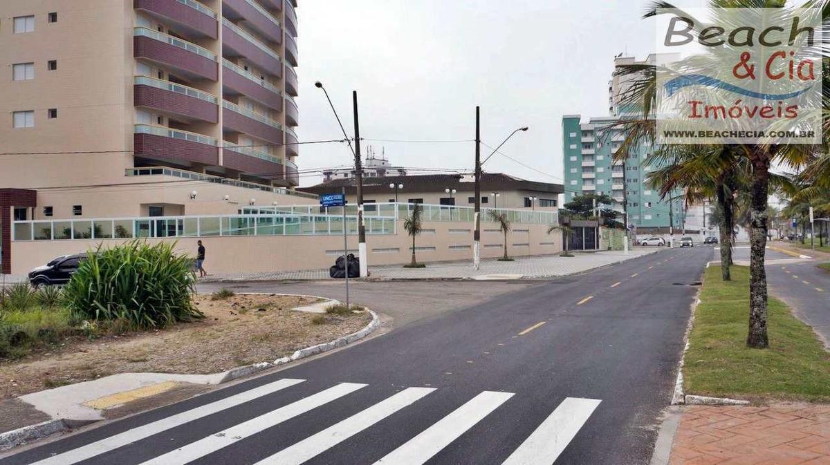 frente-mar 2 dorms, caiçara praia grande, r$ 420 mil ap00692
