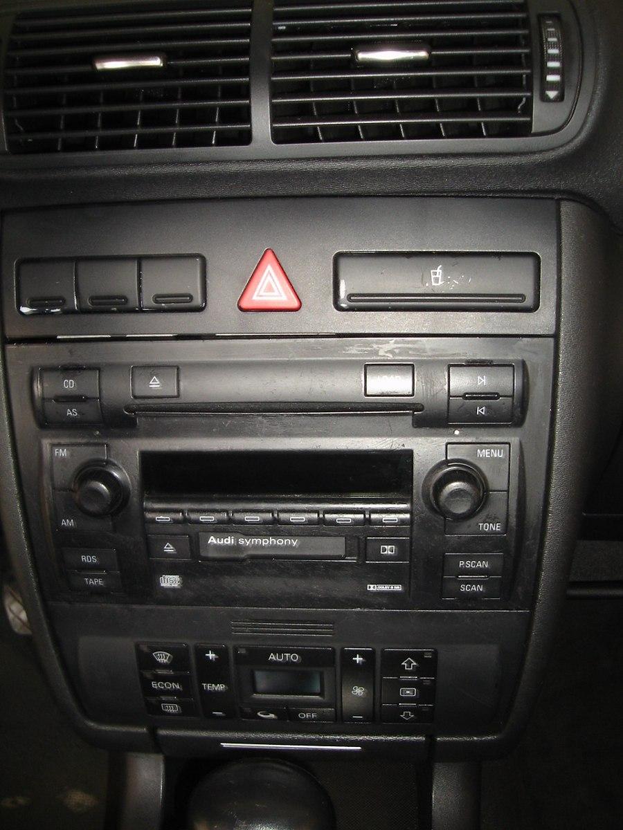 Frente Moldura 2 Din Audi A3 E A4 02-06 Preto Soft Touch ...