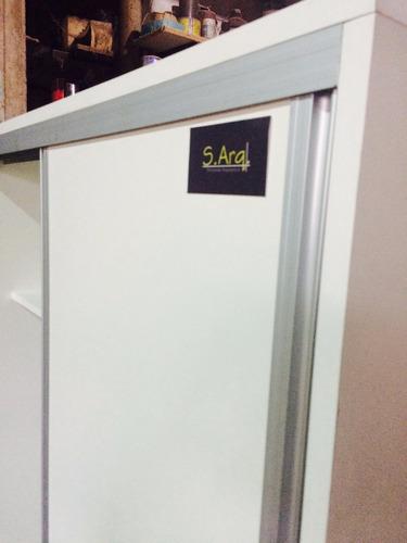 frente placard melam. 18mm, color blanco en oferta 1,80x2,60