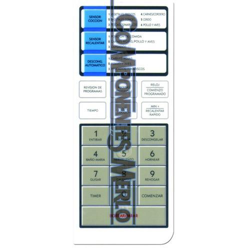 frente teclado membrana panel microondas  bgh 16950