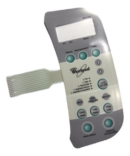 frente teclado microondas membrana 3428 whirlpool wms20d