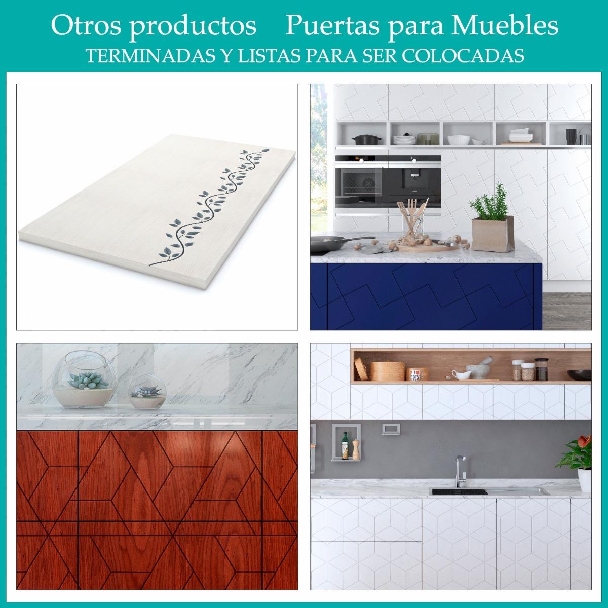 Frentes Grabados Para Muebles De Cocina Mdf 40x60 Paula - $ 647,00 ...
