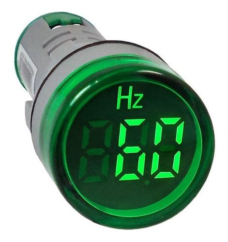 frequencímetro digital 22mm 0-99 hz 20-400v ca verde