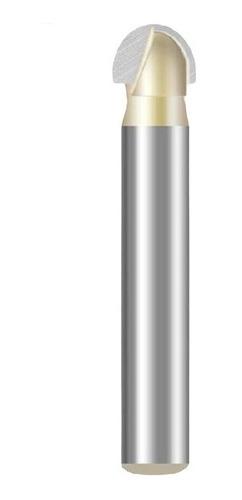fresa meia esfera / ponta u / meia cana haste 6mm corte 1/4