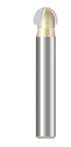 fresa meia esfera / ponta u / meia cana haste 6mm corte 5/16
