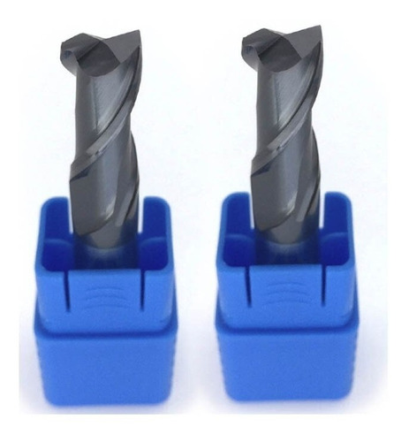 fresa metal duro revestida plana 14mm 2 filos endmill