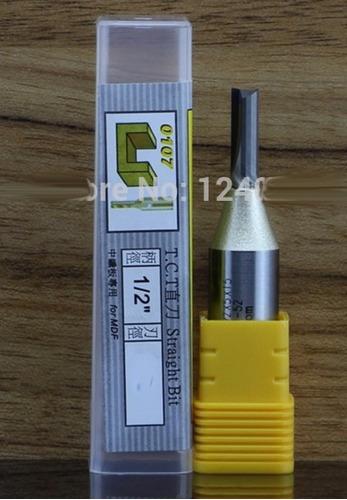 fresa p router broca recta 5.0mm diametro corte vastago 1/2