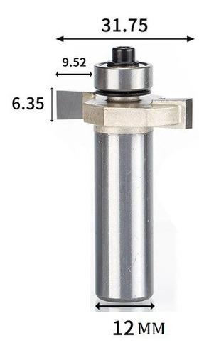 fresa t serrinha debrum com rolamento 12mm x 1/4 ( perfil t)