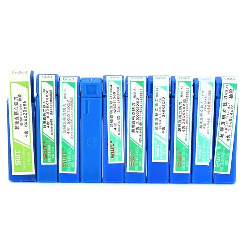 fresa topo hss 4 cortes  kit 10   de 1.5mm a 6mm .:.