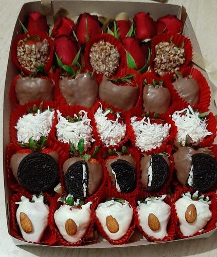 fresas decoradas (chocolate fino)