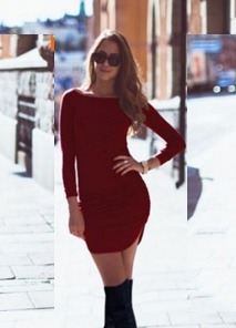 fresco sexy vestido para mujer manga 3/4 moda femenina 5132