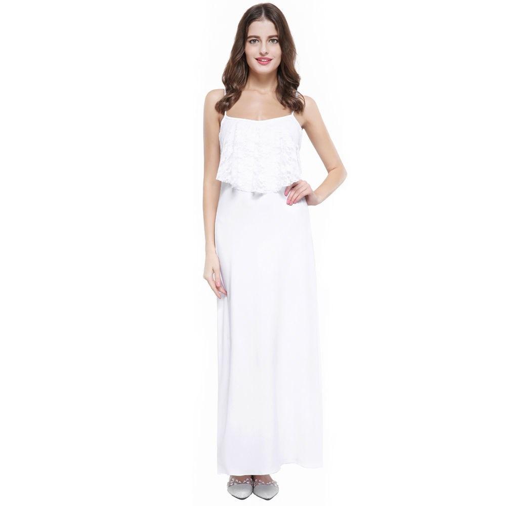 fe76656c34c Fresco Vestido Blanco De Verano Elegante Y Casual Talla M l - S  90 ...