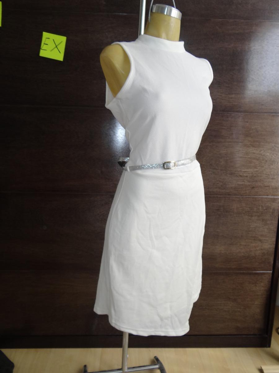 Vestido blanco entallado
