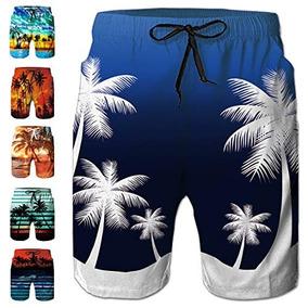 ddd21a76b Freshhoodies - Bañador Hawaiano Para Hombre Diseño De Palm