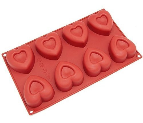 freshware sl110rd 8cavity medium heart shape molde de silico