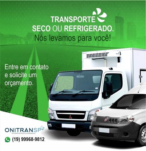 frete e transporte de produtos refrigerados e congelados