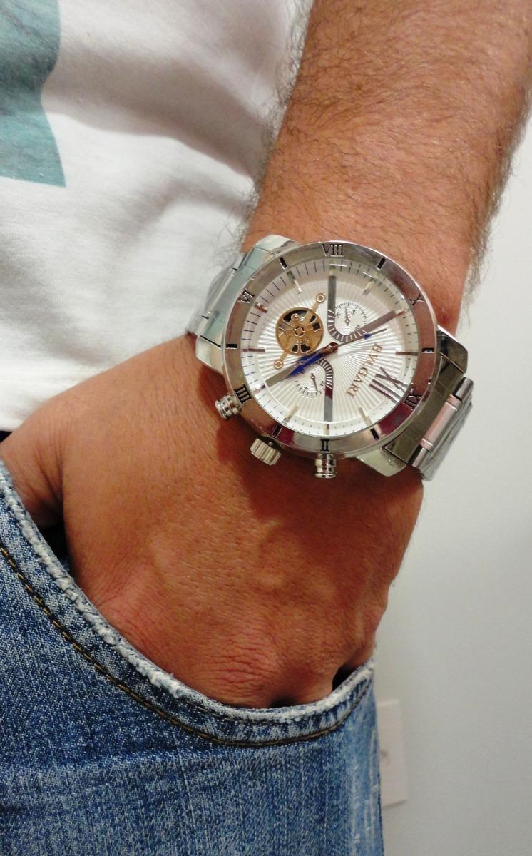 e2f199a224a frete gratis 15 relógio prata masculino barato grande pesado. Carregando  zoom.