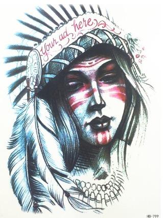 Frete Gratis 2 Tatuagens Divertidas Temporaria India Nº 79 R 31
