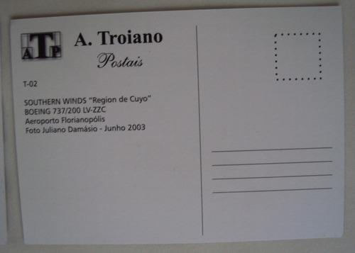 frete grátis 6 cartões postais de avião para colecionar 02