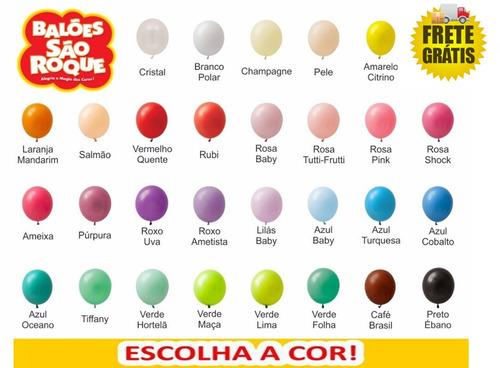 frete grátis - balão são roque 100 pacotes / bexiga n.7
