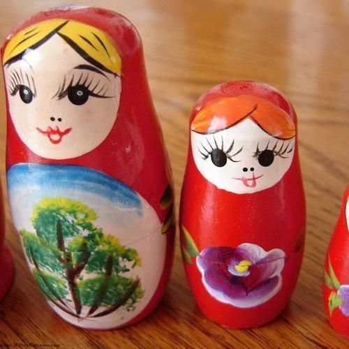 frete gratis boneca matryoshka russa vermelha 5 peças