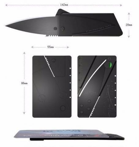 frete grátis cartão canivete lamina dobrável credito ofertão