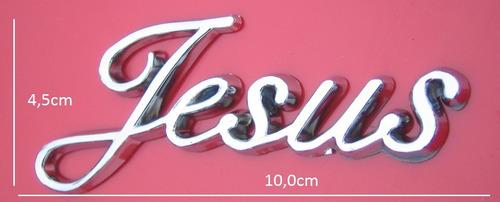 frete grátis - emblema cromado jesus