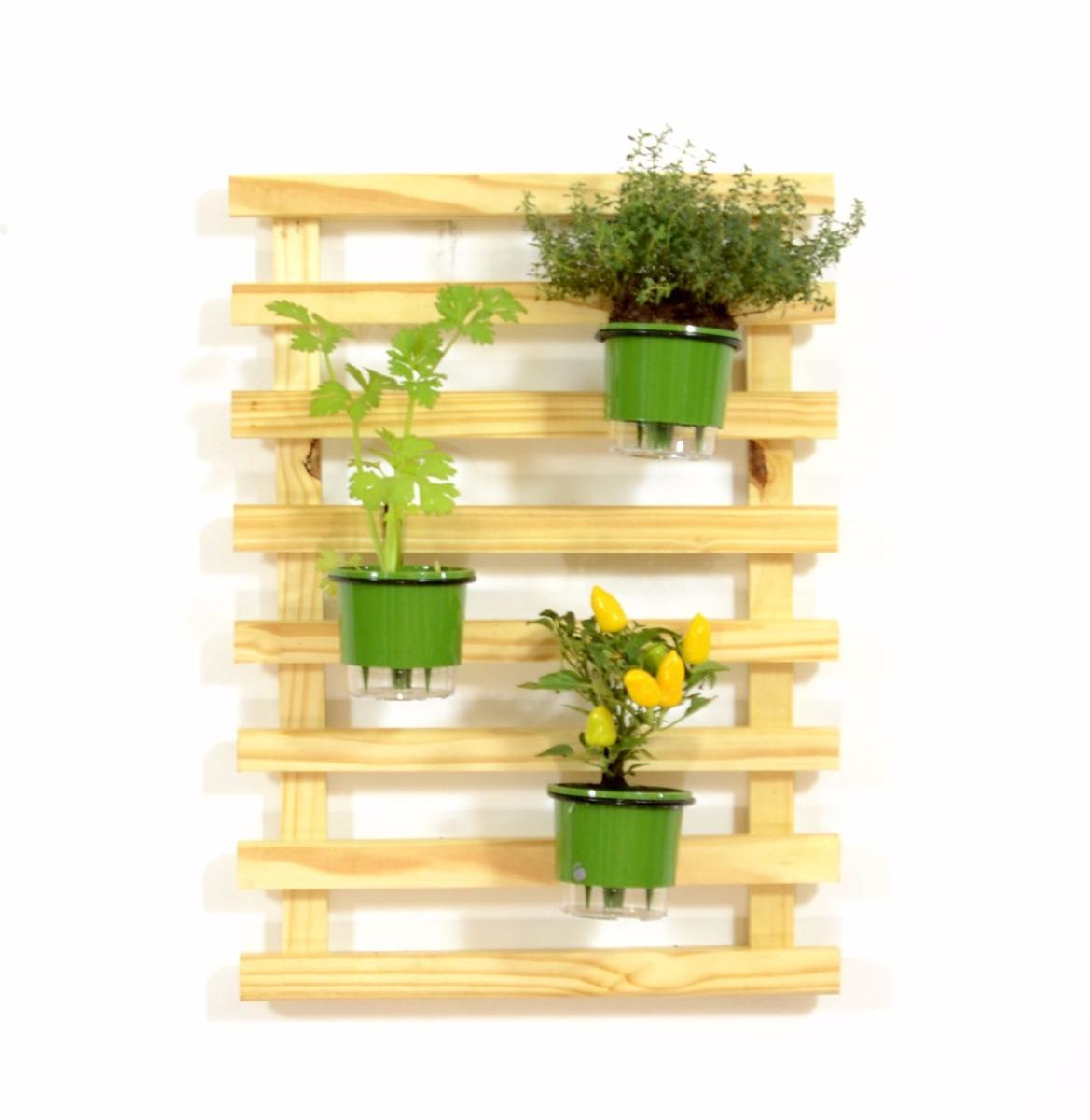 Frete Gr Tis Floreira Vertical Jardim 3 Vasos Autoirrigaveis R  -> Floreira Vertical