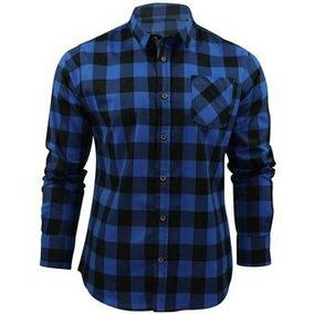 8d0d0e6baa Camisa Xadrez De Flanela Manga Longa Masculina Preta E Cinza - Camisas no  Mercado Livre Brasil