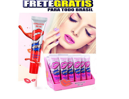 frete gratis kit 24 batom adesivo 24 hr - lip gloss tattoo