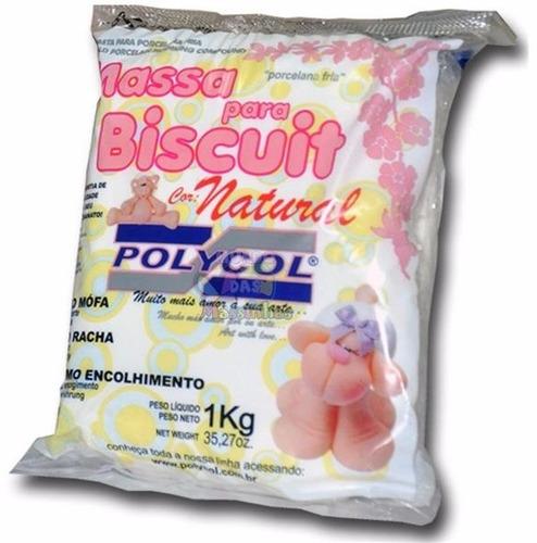 frete grátis - massa polycol (6 colorida  e 6 natural)