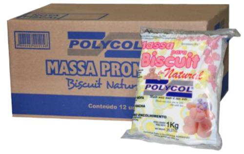 frete grátis - massa polycol natural 12kg
