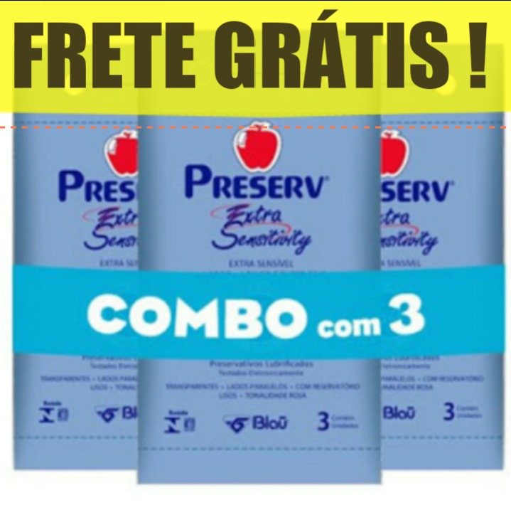 ed9041c8c2 Frete Gratis Nordeste Norte Preserv Extra Fino Sensitivity - R  42 ...