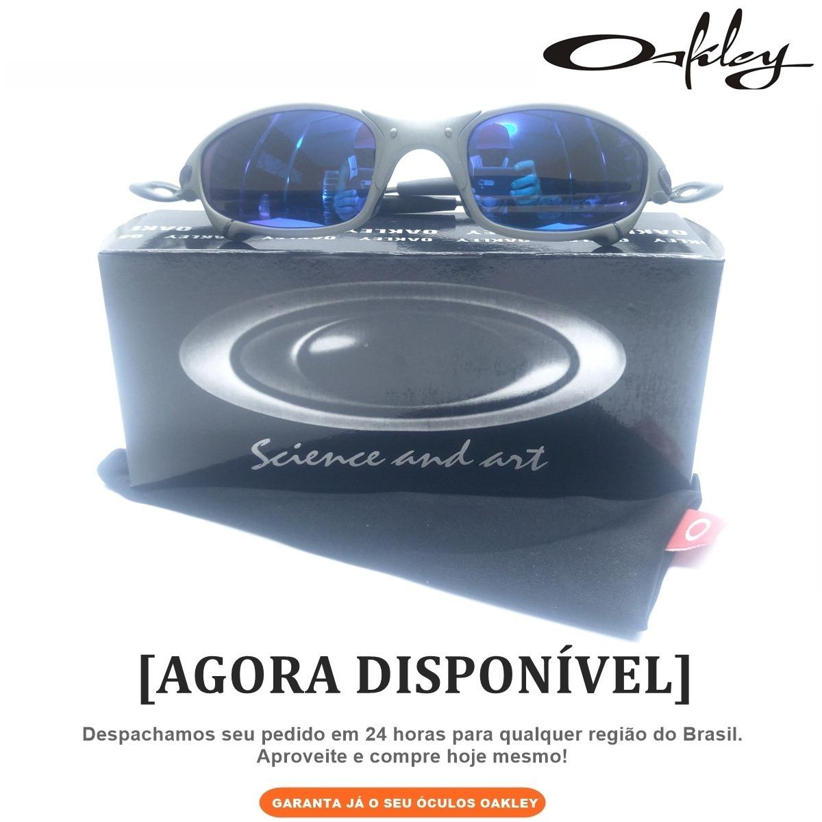 83ec3ca2679e0 Frete Grátis - Óculos Oakley Juliet Lente Azul Armação Metal - R ...